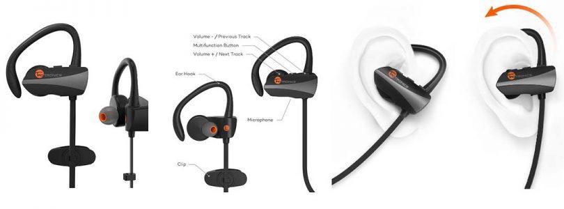 TaoTronics Bluetooth Headphones Wireless In Ear Earbuds Sports Sweatproof Earphones TT-BH10 review